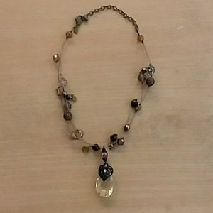 Chico's Necklace With Teardrop Pendant
